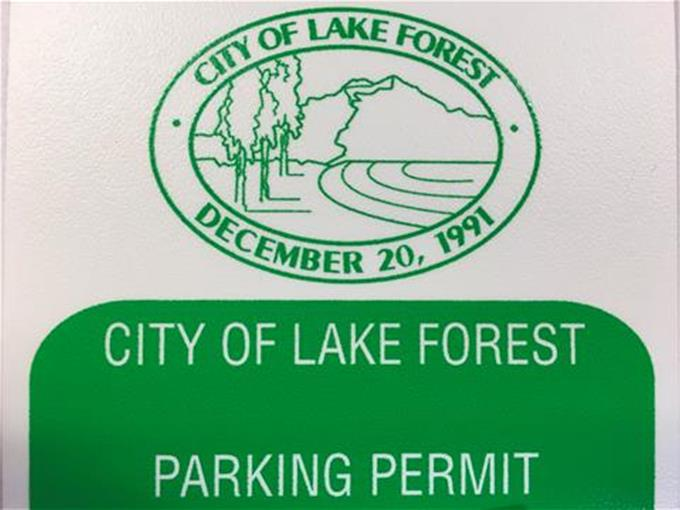 CIty of Lake Forest Parking Permit