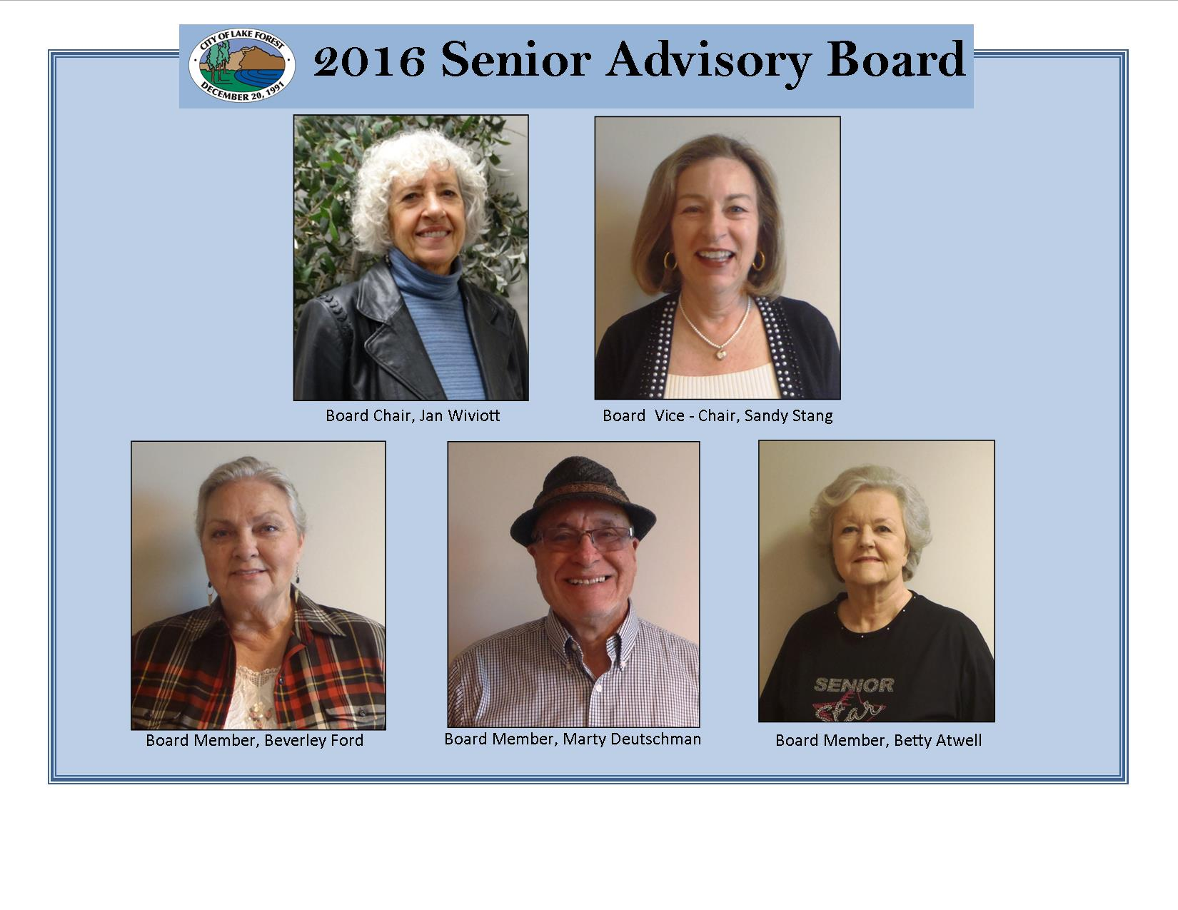 Board Members Collage 2016