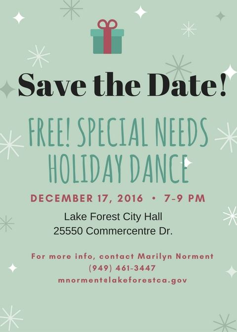 Special needs holiday dance