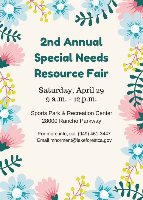 2nd Annual Special Needs Resource Fair