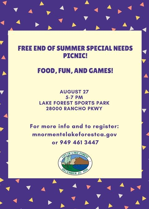 Special Needs Picnic