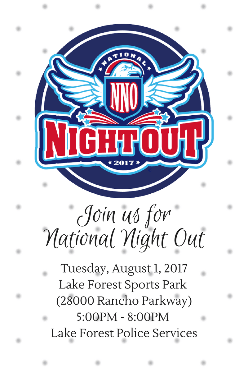 Join us for National Night Out 2017