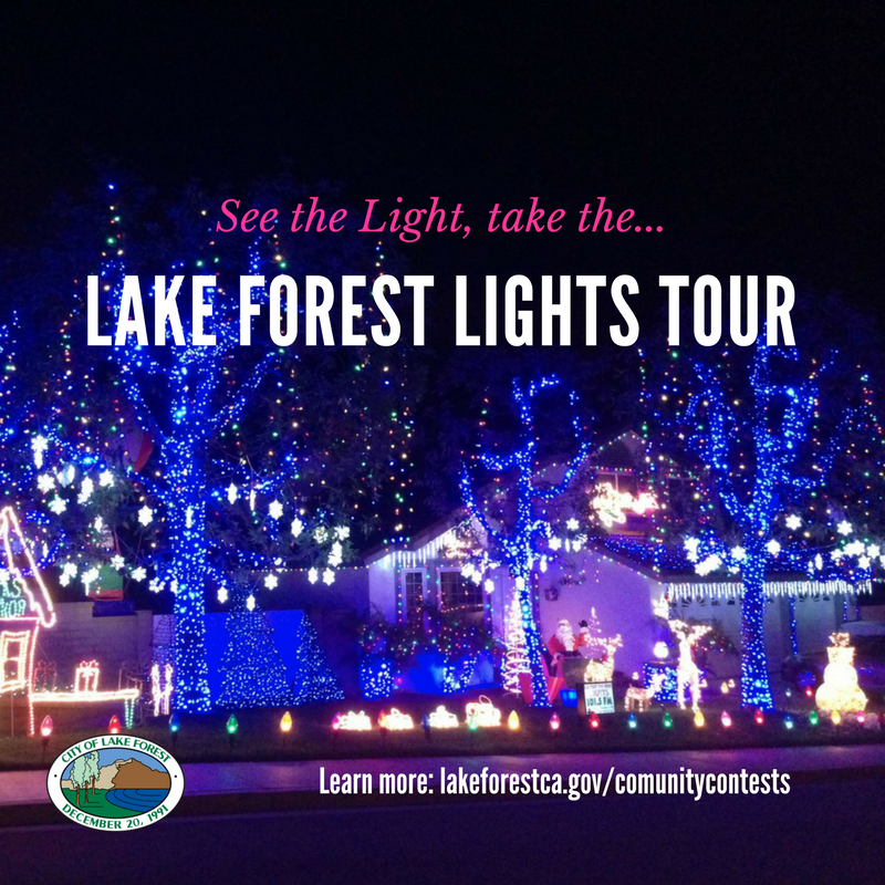 Lake Forest Lights Tour