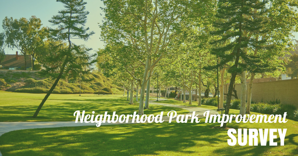 Neighborhood Park Improvement Survey