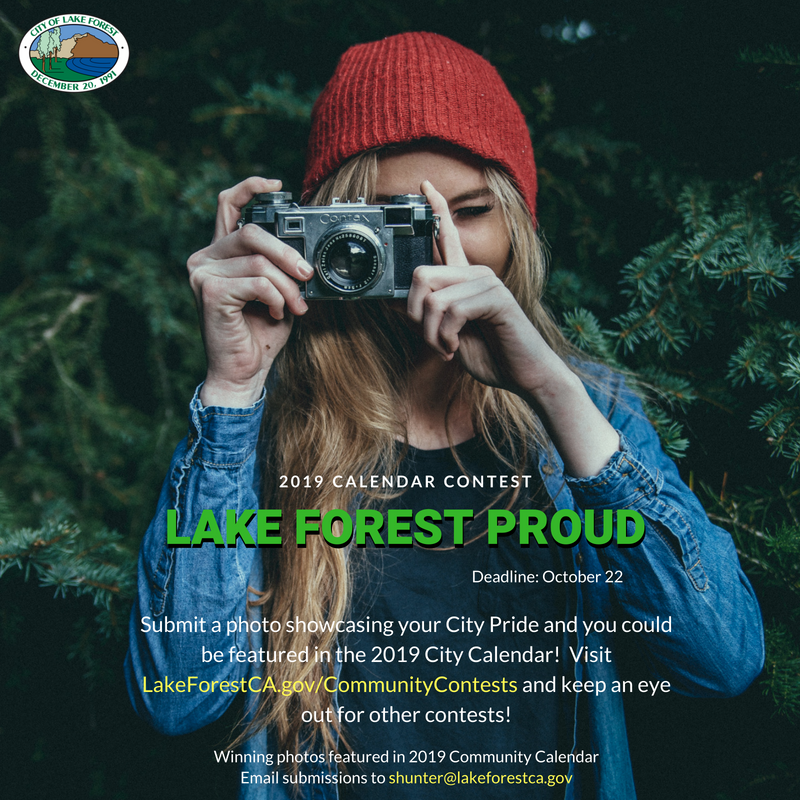 2019 Calendar Contest Lake Forest Proud