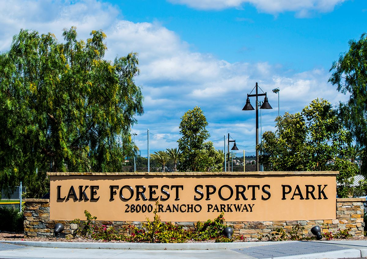 _sportspark_ Lake Forest Sports Park Sign